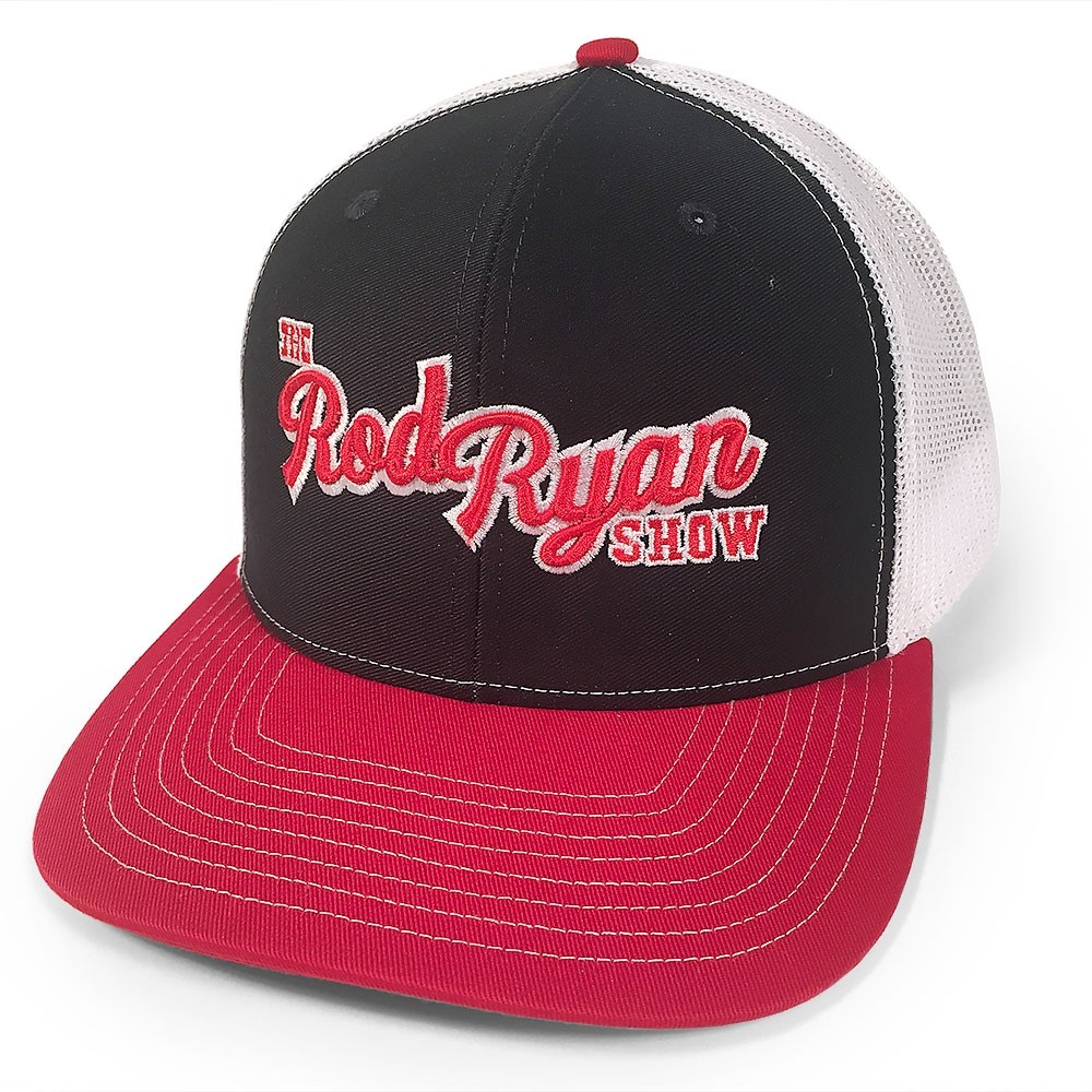 Rod Ryan Show 3D Embroidery Meshback Cap - Red/Navy/White