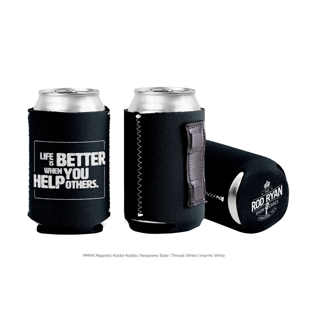 Life is Better Magnet Koozie - Black