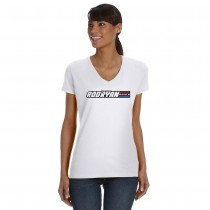 Ladies V-Neck Radio Hero Tee