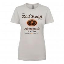Ladies Homemade Radio Shirt - Silver (SLIM FIT)