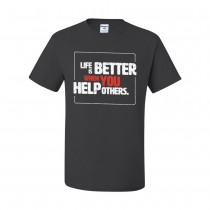Life Is Better T-Shirt - Charcoal