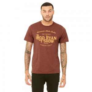 Unisex Vintage Radio Tee - Heather Clay