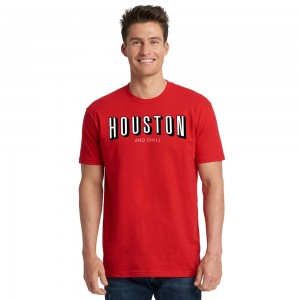 Unisex Houston and Chill Crew Tee - Red