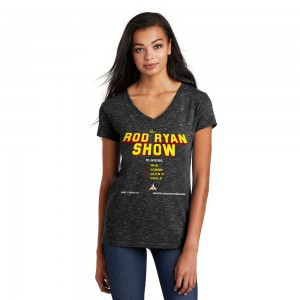 Women's V-Neck Video Game Tee - Black
