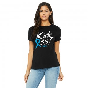 Ladies Classic Kick Ass 2019 Relaxed Tee - Black