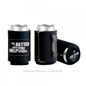 Life is Better Magnet Koozie - Black