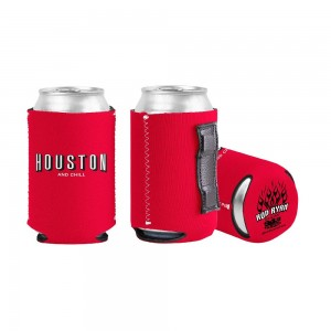 Houston & Chill Magnet Koozie - Red